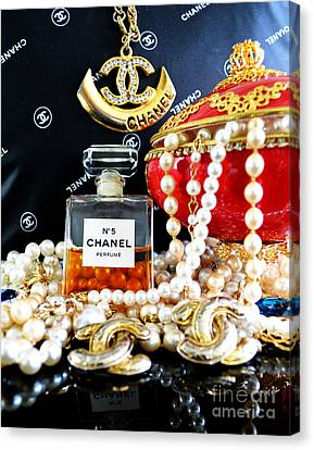 Chanel No 5 And Egg 2 Canvas Print by To-Tam Gerwe