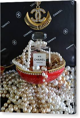 Chanel No 5 And Egg Canvas Print by To-Tam Gerwe