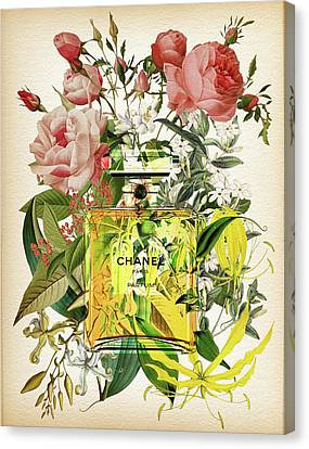 Chanel No. 5 Notes 2 Canvas Print