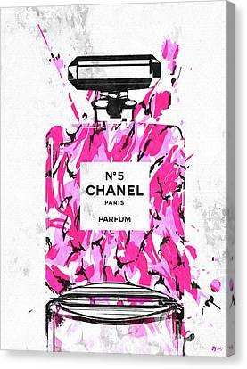 Chanel No. 5 Pink Army Canvas Print by Daniel Janda