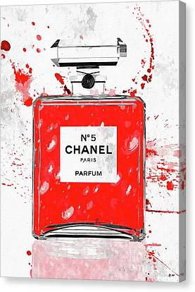 Chanel No 5 Red Canvas Print