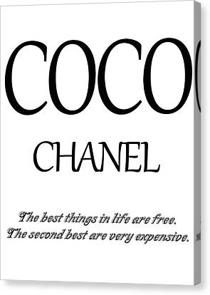 Chanel Quote Canvas Print by Dan Sproul