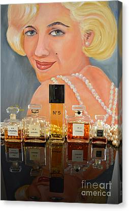 Chanels With Marilyn Monroe Canvas Print by To-Tam Gerwe