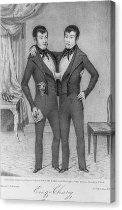 Chang And Eng, 1811-1874, Conjoined Canvas Print by Everett