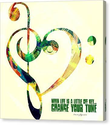 Change Your Tune Canvas Print by Brandi Fitzgerald