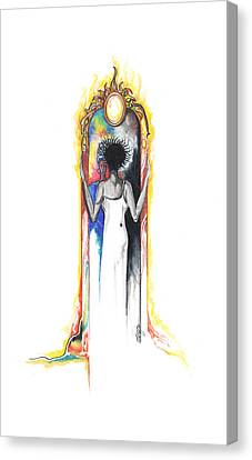 Canvas Print featuring the drawing Changes by Anthony Burks Sr