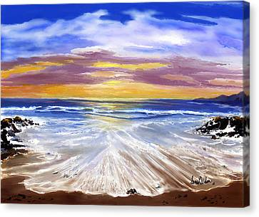 Canvas Print featuring the painting Changing Tide by Sena Wilson