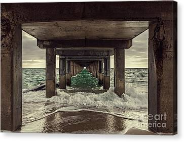 Salt Water Canvas Print - Changing Tides by Andrew Paranavitana