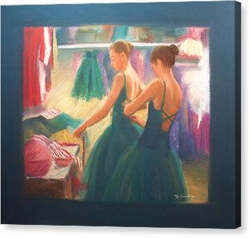 Channeling Degas Canvas Print by Diane Caudle