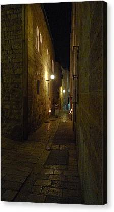 Canvas Print featuring the photograph Chanukah At The Old City Of Jerusalem by Dubi Roman