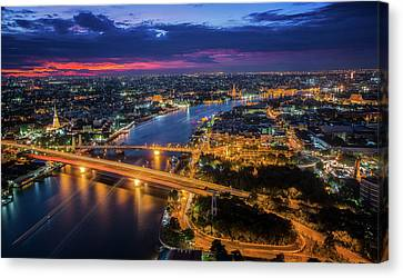 Chao Phraya River Canvas Print by Anek Suwannaphoom