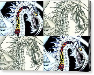 Chaos Dragon Fact W Fiction Canvas Print by Shawn Dall
