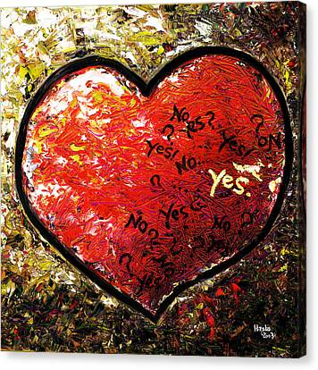 Chaos In Heart Canvas Print