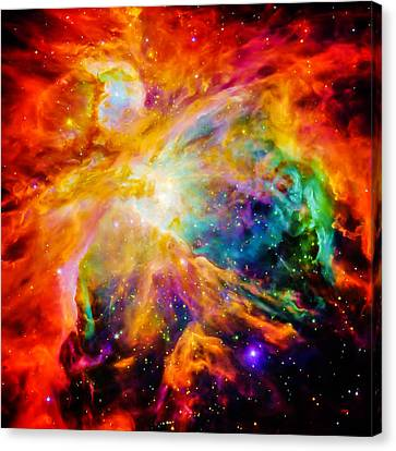 Chaos In Orion Canvas Print by Britten Adams