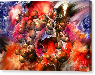Chaos Spheres By Spano Canvas Print by Michael Spano
