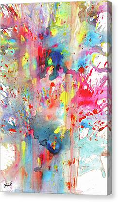 Chaotic Craziness Series 1990.033014 Canvas Print by Kris Haas