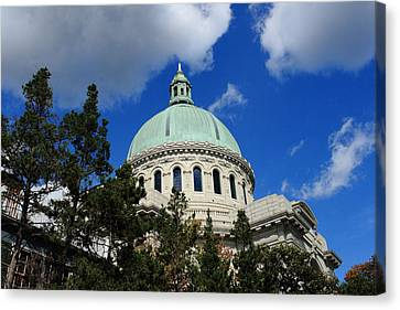 Chapel - Us Naval Academy 3 Canvas Print by Lou Ford