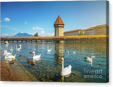 Chapel Bridge Of Lucerne Canvas Print by JR Photography