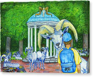 Chapel Hill Nc The Freshman Canvas Print by Laura Brightwood