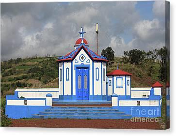 Chapel In Agua De Pau - Azores Canvas Print by Gaspar Avila