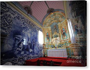 Chapel In Azores Islands Canvas Print by Gaspar Avila