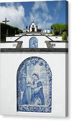 Chapel In The Azores Canvas Print by Gaspar Avila
