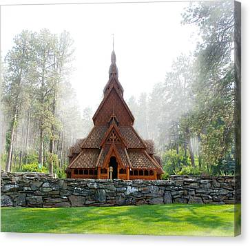 Woodcarving Canvas Print - Chapel In The Hills by Art Spectrum