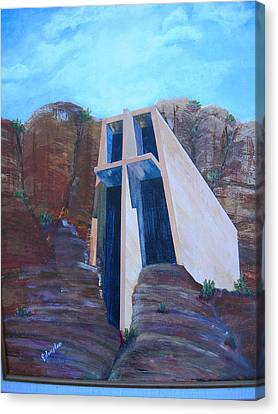 Chapel In The Mountains Canvas Print by Jack Hampton
