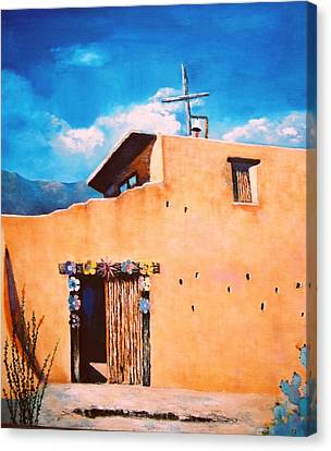 Chapel In The Sun Canvas Print by M Diane Bonaparte
