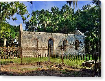 Chapel Of Ease St. Helena Island Beaufort Sc 2 Canvas Print by Lisa Wooten