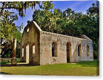 Chapel Of Ease St. Helena Island Beaufort Sc 3 Canvas Print by Lisa Wooten