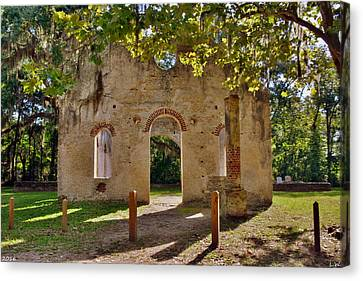 Chapel Of Ease St. Helena Island Beaufort Sc 4 Canvas Print by Lisa Wooten
