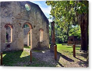 Chapel Of Ease St. Helena Island Beaufort Sc 5 Canvas Print by Lisa Wooten