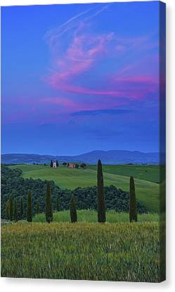 Chapel Of Our Lady Of Vitaleta Canvas Print by Christian Heeb