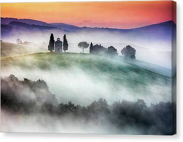 Chapel Of Our Lady Of Vitaleta Canvas Print by Evgeni Dinev