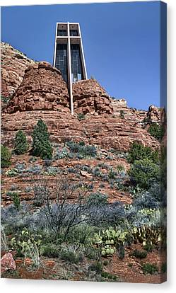 Chapel Of The Holy Cross - Arizona Canvas Print by Nikolyn McDonald