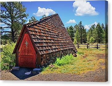 Chapel Of The Holy Dove - Flagstaff, A Z  Canvas Print by Allen Beatty