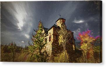 Chapel On The Rock Canvas Print by Vicki Stansbury