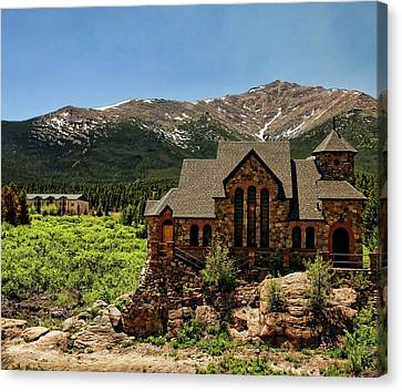 Chapel On The Rocks 2 - Colorado Canvas Print by Judy Vincent