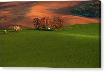 Chapel St Barbara. Moravia Canvas Print by Jenny Rainbow