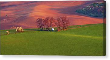 Chapel St Barbara. Moravian Tuscany Canvas Print by Jenny Rainbow