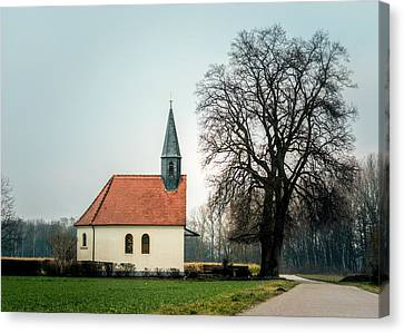 Chapel Under The Tree Canvas Print by Daniel Precht