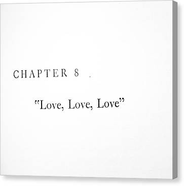 Chapter 8 Love Love Love Squared Canvas Print by Toni Hopper