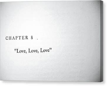 Chapter 8 Love Love Love Canvas Print by Toni Hopper