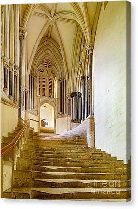 Canvas Print featuring the photograph Chapter House, Wells Cathedral by Colin Rayner