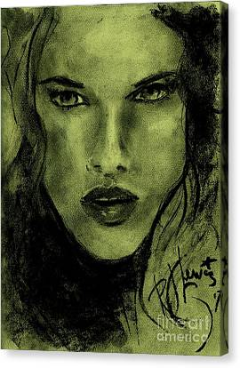 Canvas Print featuring the drawing char-Carol by P J Lewis