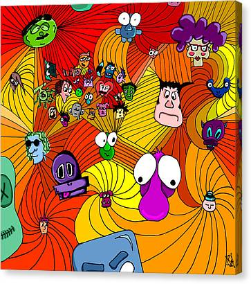 Characters In Color Canvas Print by Jera Sky