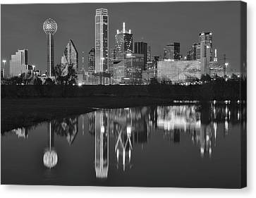 Charcoal Night In The Lone Star State Canvas Print by Frozen in Time Fine Art Photography