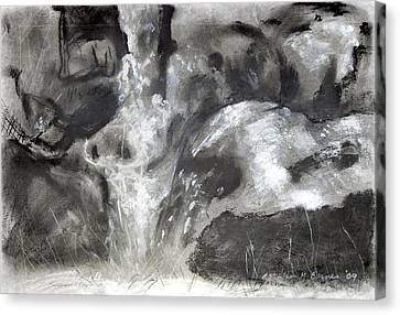 Charcoal Waterfall Canvas Print