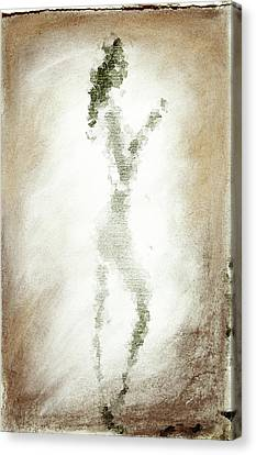 Charcoal Woman Canvas Print by Andrea Barbieri